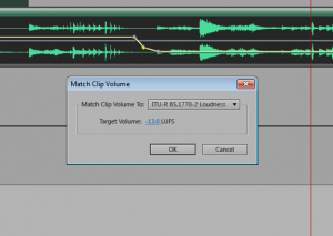 Match Clip Volume